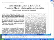 Force Density Limits in Low-Speed Permanent-Magnet Machines Due to Saturation